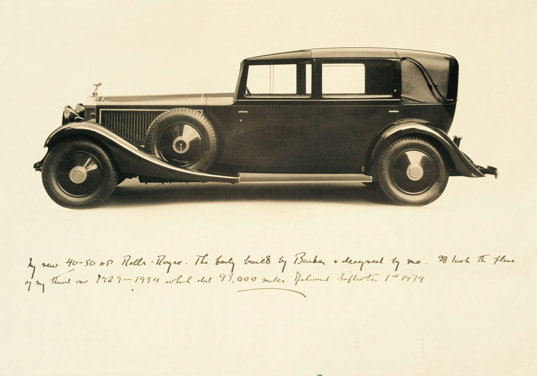 1934  Lord Fairhaven's Rolls-Royce Phantom II by Barker